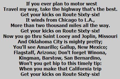 Route 66 : Nat King Cole : with Lyrics - YouTube